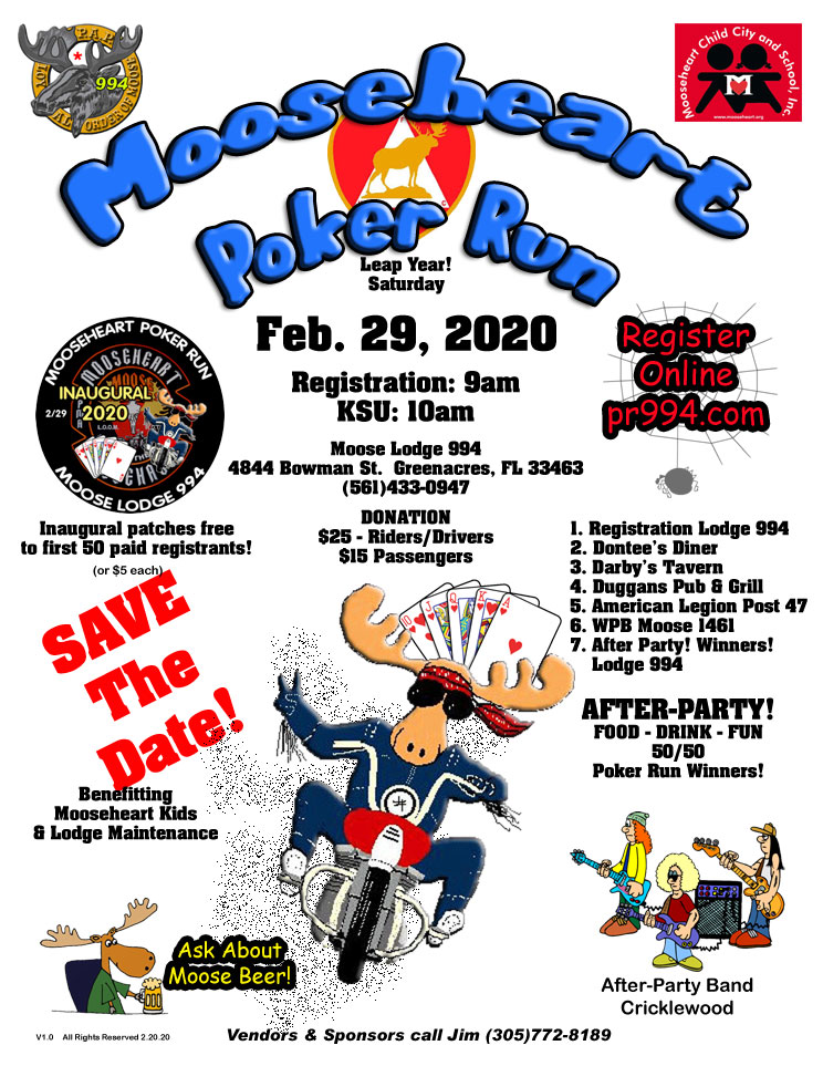 Mooseheart Poker Run 2020